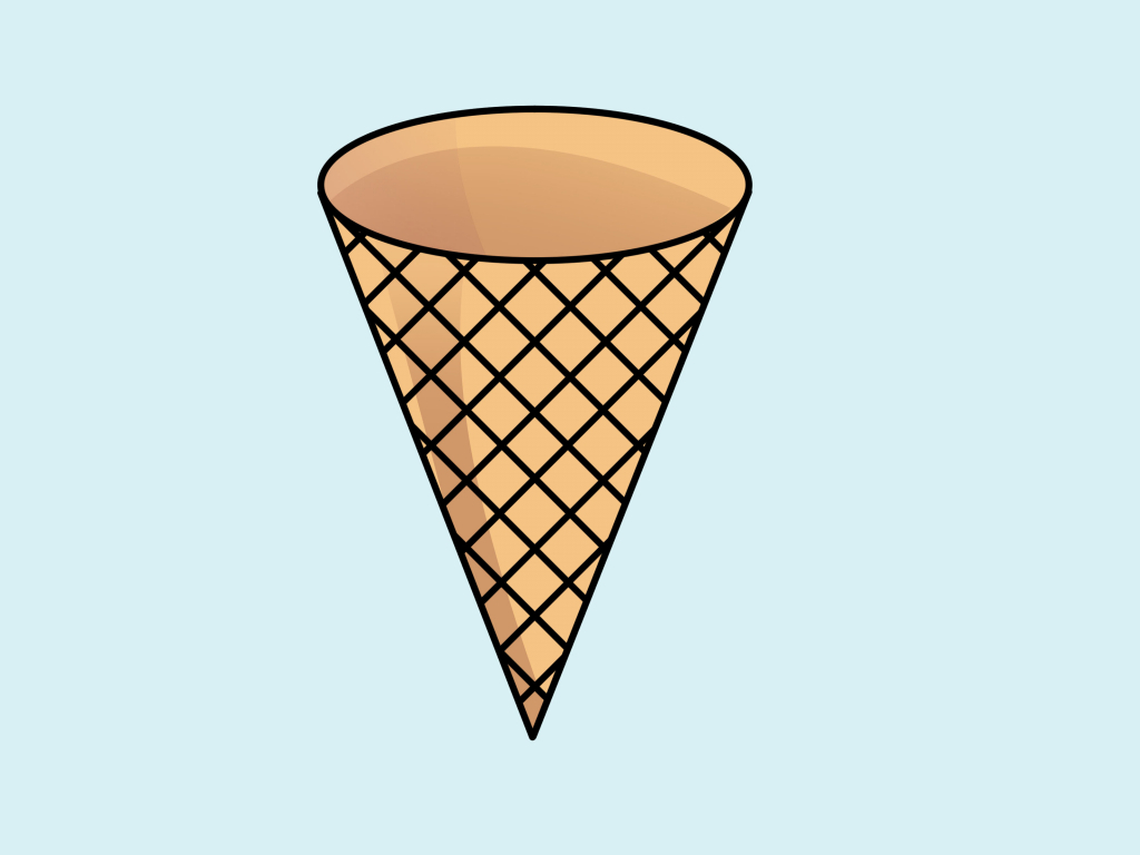 1024x768 ice cream cone drawing ice cream cone drawing clipart best