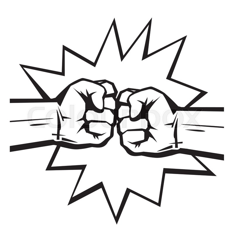 800x800 Two Clenched Fists Bumping Together On Stock Vector Colourbox