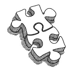 235x234 Two Puzzle Pieces Connection Drawing Free Image
