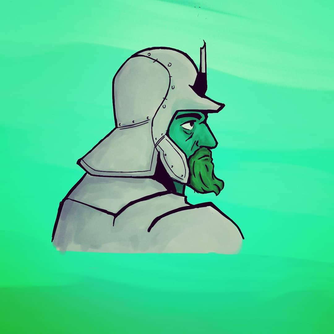 1080x1080 conquistador illustration, how i drew it and a brief history