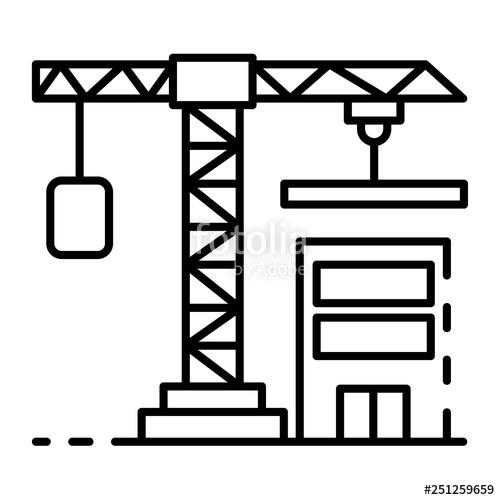 500x500 construction crane icon outline construction crane vector icon
