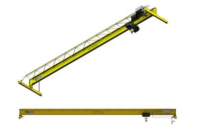 400x265 top running single girder crane bridge crane specialists
