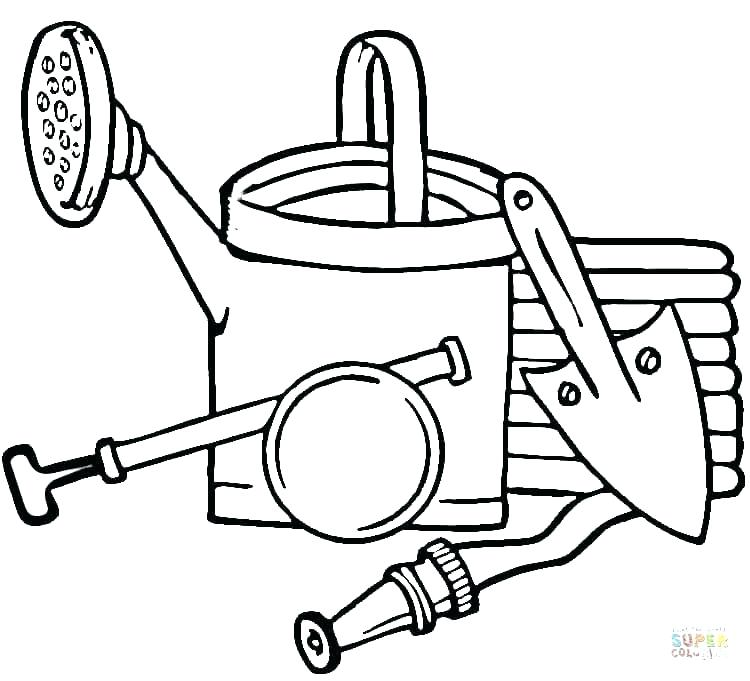 750x681 Coloring Pages Of Tools Construction Tools Coloring Pages Awesome