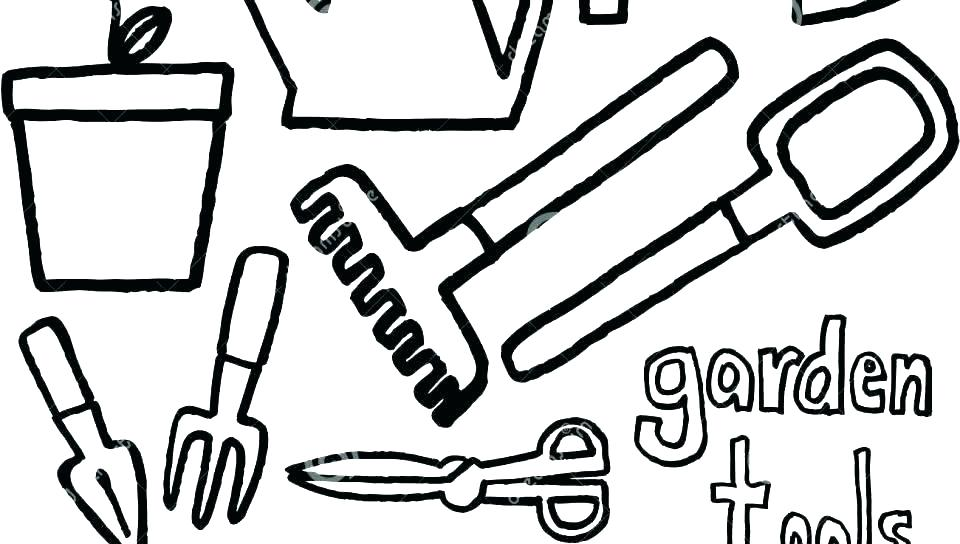 960x544 Coloring Pages Of Tools Construction Tools Coloring Pages Tool