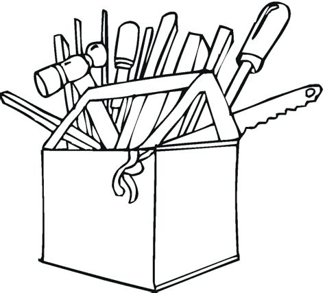 474x427 Construction Tools Coloring Pages Construction Tools Coloring