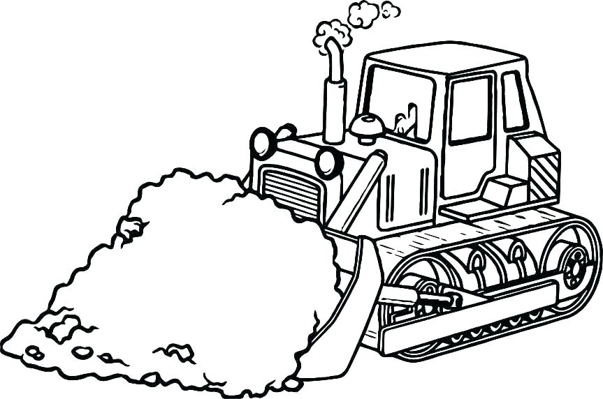863x572 Bulldozer Coloring Pages Free Construction Coloring Pages