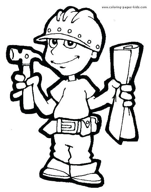 500x635 construction worker coloring pages construction construction