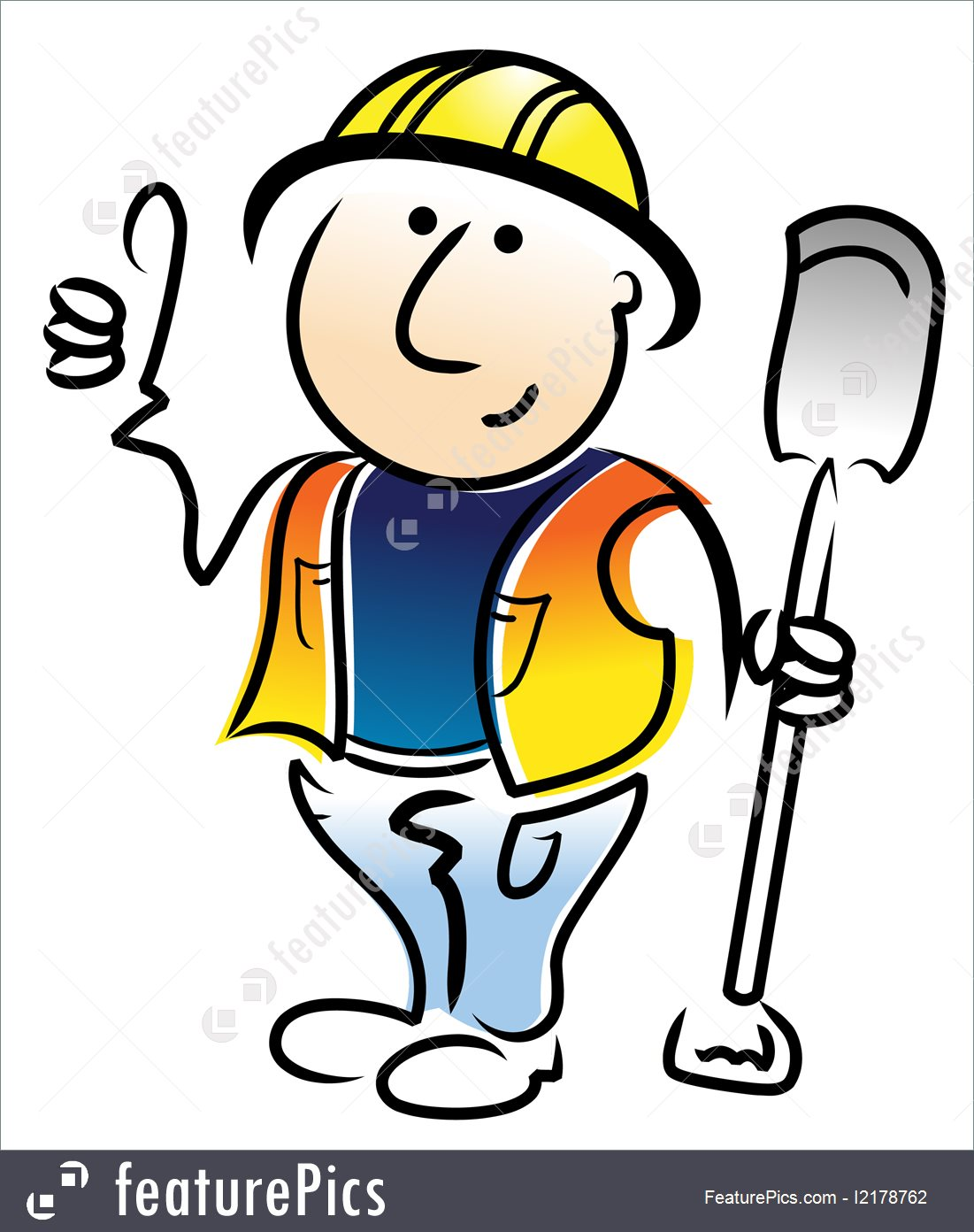 1101x1392 Construction Worker Illustration