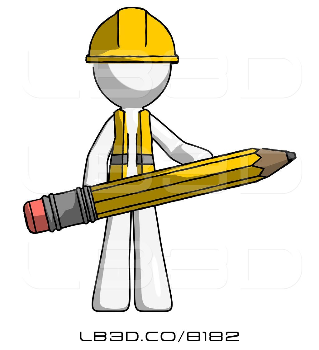 1024x1124 Illustration Of White Construction Worker Contractor Guy Writer