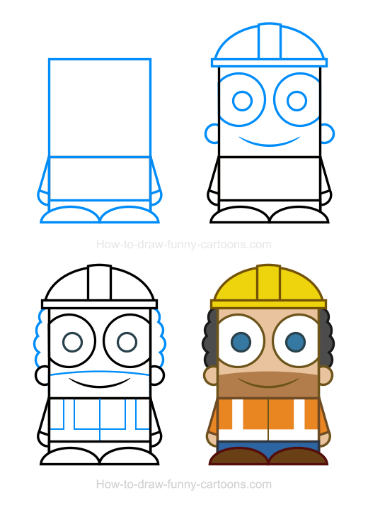 520x712 Construction Worker Clipart In How To Draw Drawings
