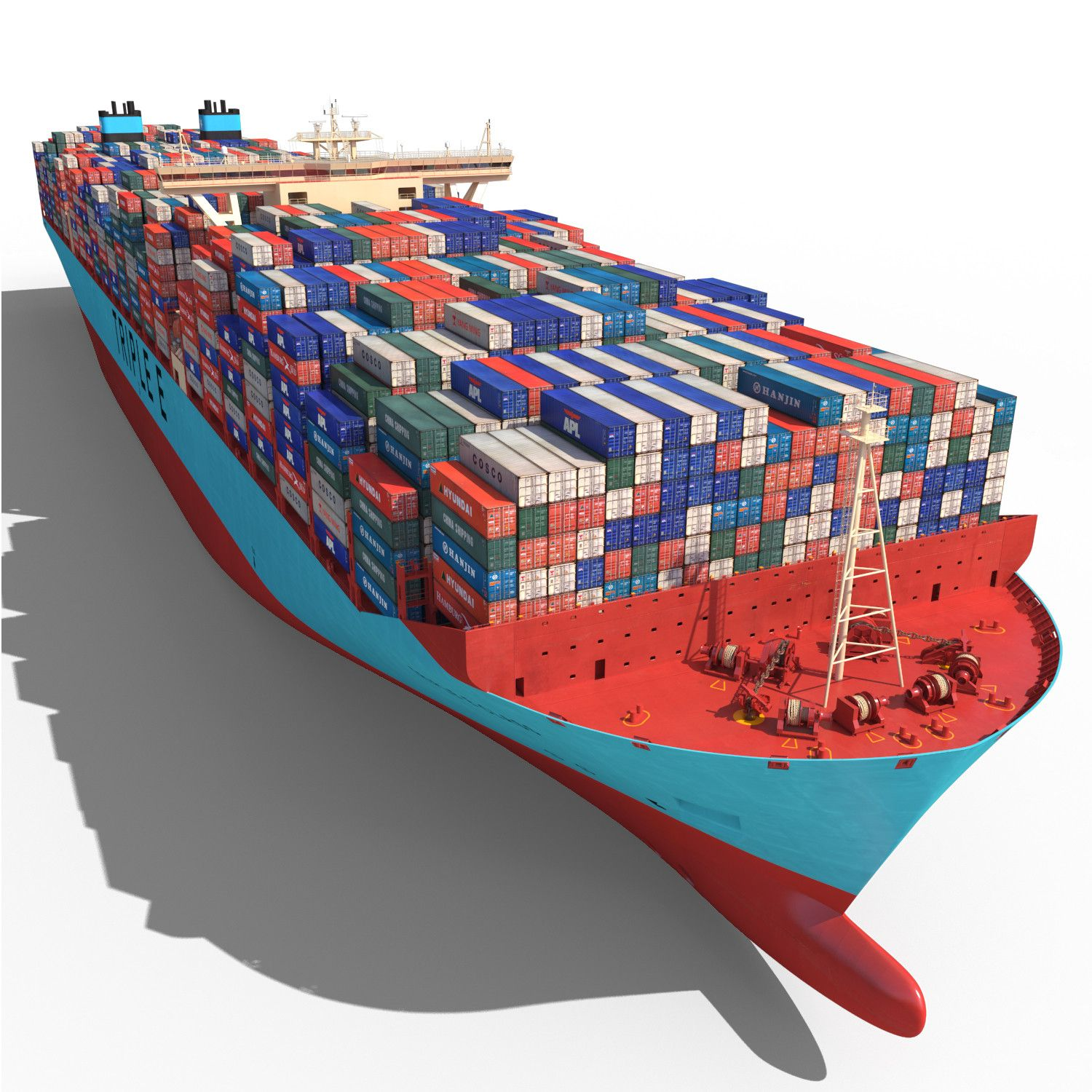 Container Ship Drawing