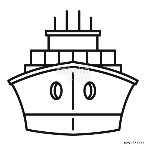 500x500 delivery cargo ship icon isometric of delivery cargo ship vector