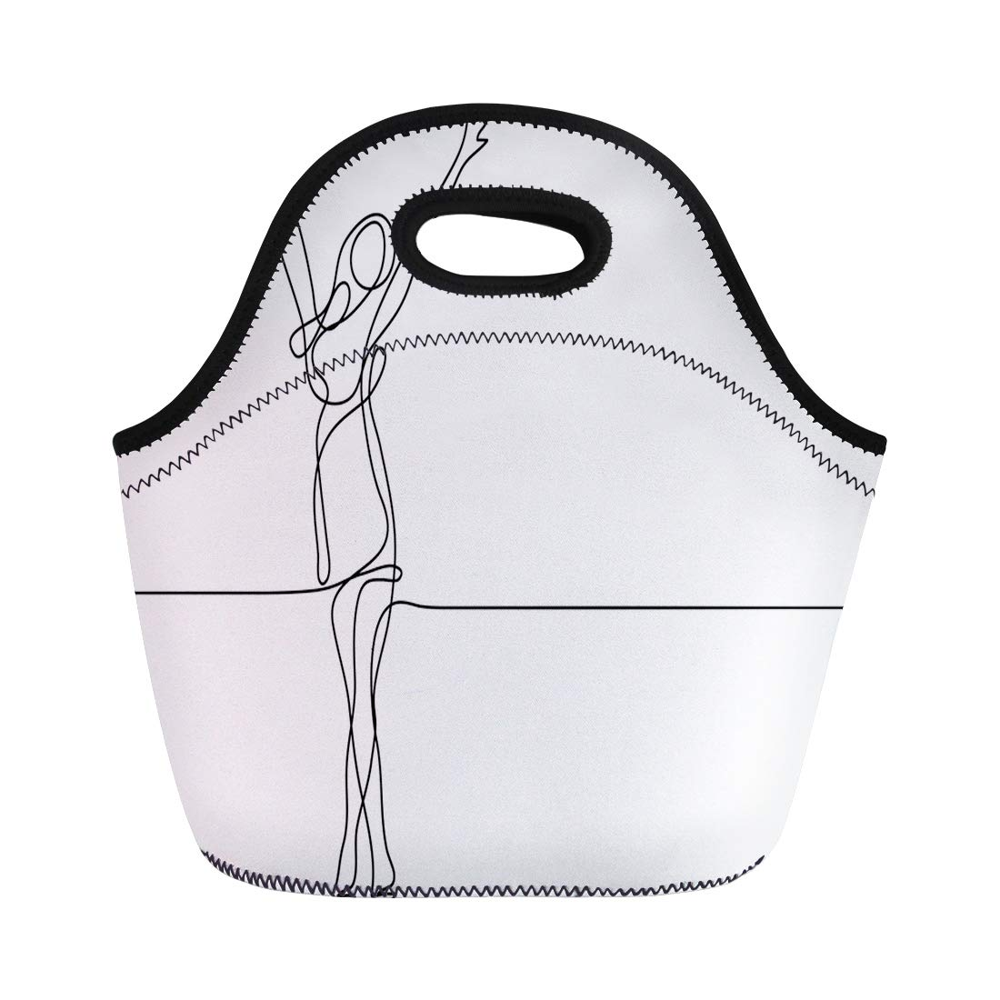 1100x1100 Semtomn Lunch Tote Bag Person Continuous Line Drawing