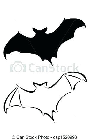 300x470 Halloween Bat Outline Collection Of Bat Line Drawing Download Them