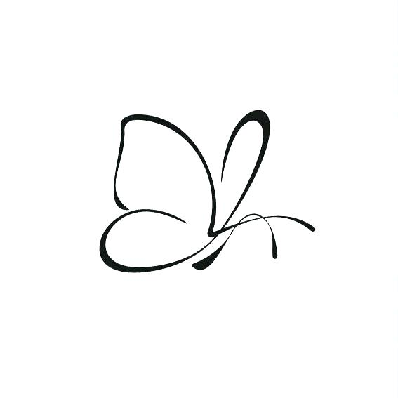 567x567 Simple Butterfly Drawing Simple Butterfly Continuous Line Drawing