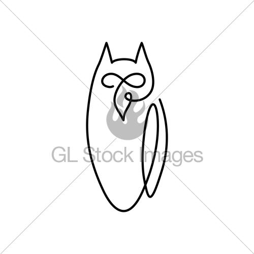 500x500 Vector Continuous Line Drawing Bird Owl Owl Logo Design Gl