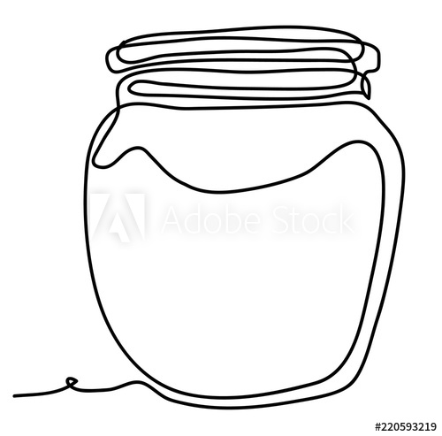 500x493 Empty Glass Jar Vector Illustration Isolated On White Background