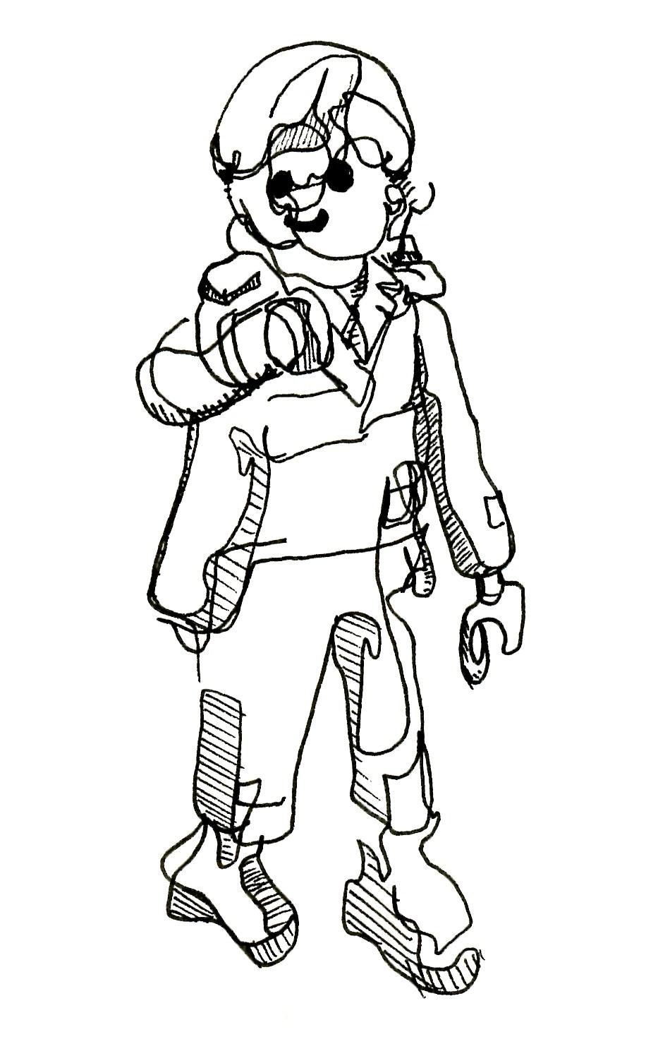 916x1479 Blind Contour Drawing Playmobil Figure Evrydayart