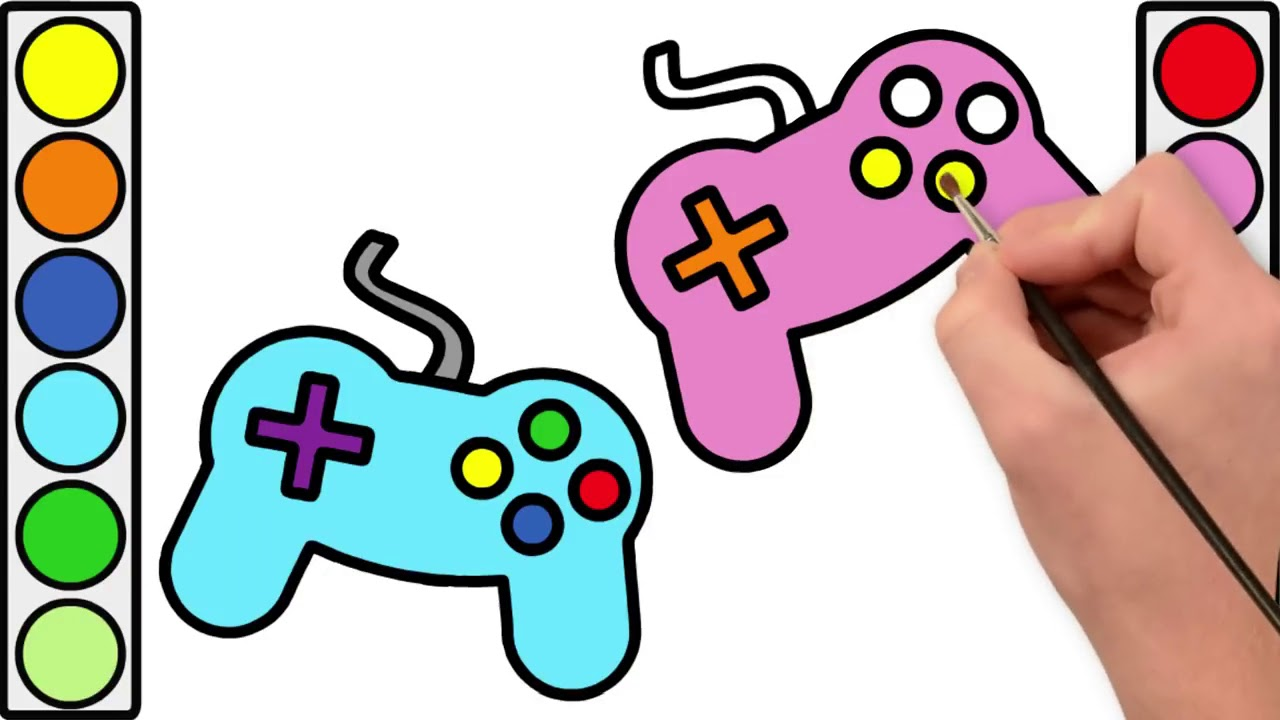 1280x720 drawing and coloring gamepad controller