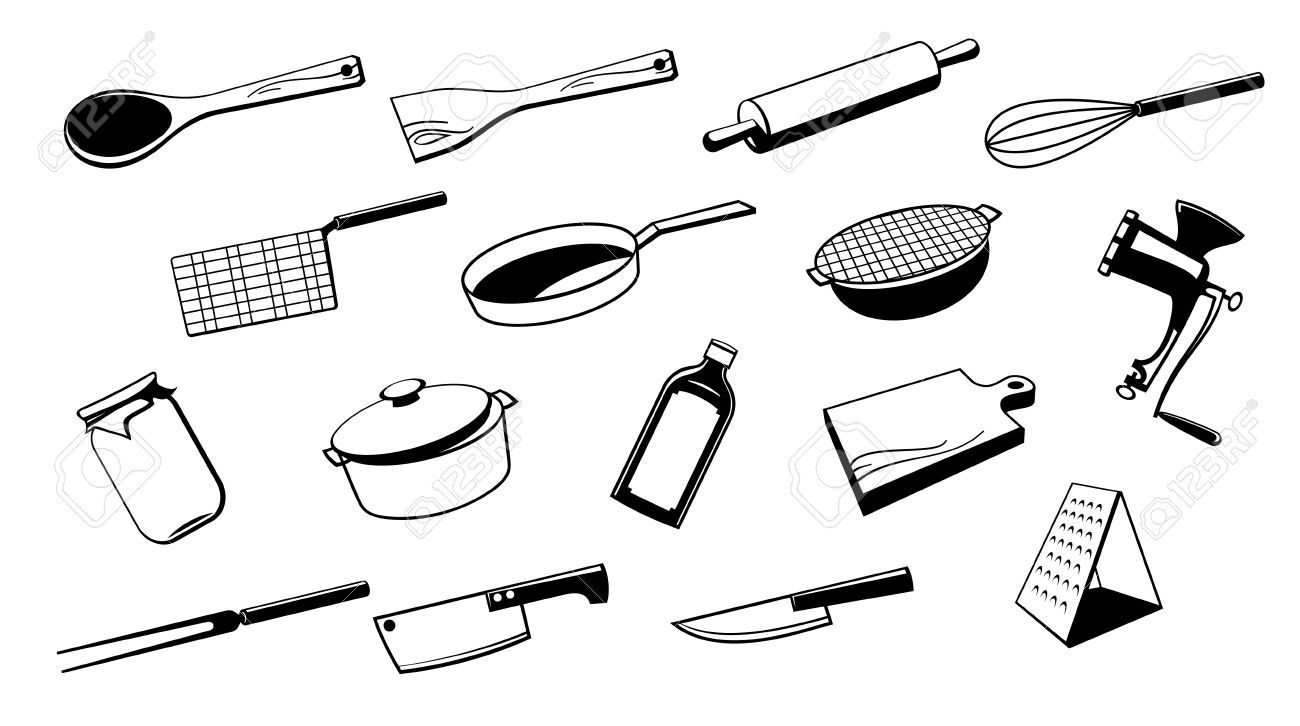 Cooking Utensils Drawing Free Download Best Cooking