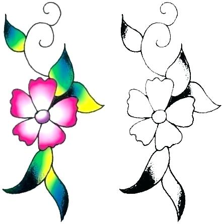 443x445 Flower Drawing Designs Simple Flower Drawing How To Draw Easy