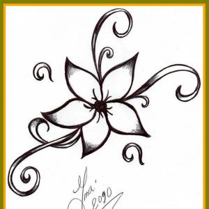 300x300 Beautiful Marvelous Cool And Easy To Draw Simple Flower Designs