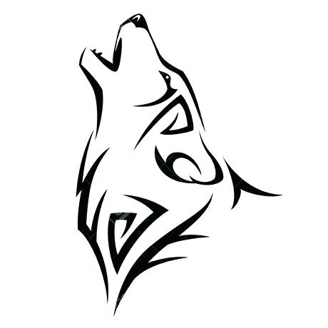 460x460 Simple Wolf Drawing Cool Easy Wolf Drawings