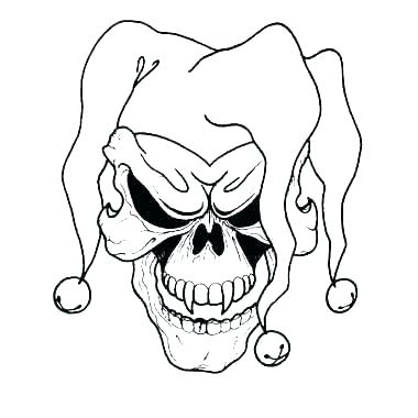 380x380 cool clown drawings scary clown coloring pages clown face drawing