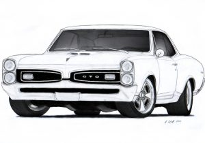 300x210 pencil drawings of muscle cars muscle car drawings stepstep cool