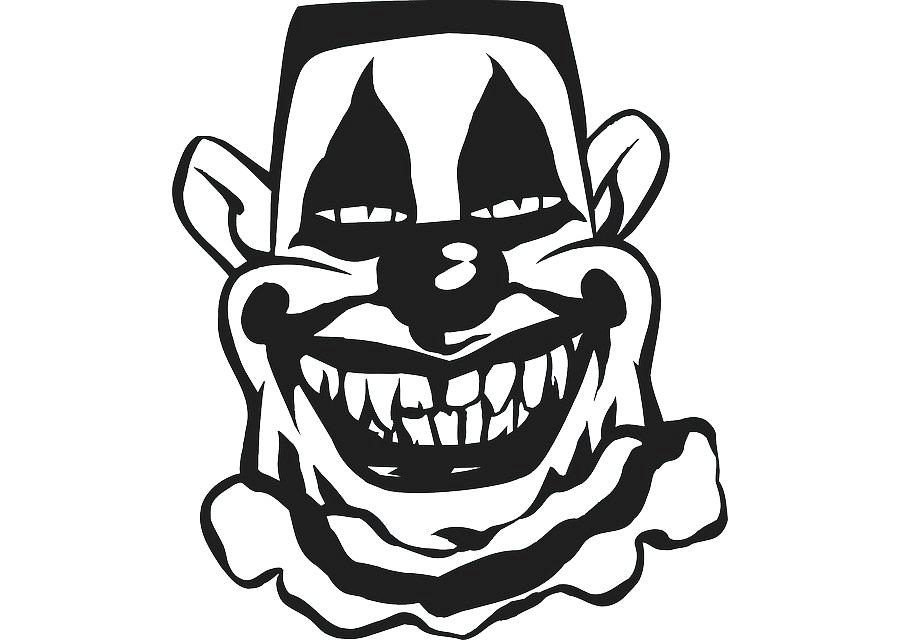 900x640 evil clown clipart scary clown evil clown clipart free