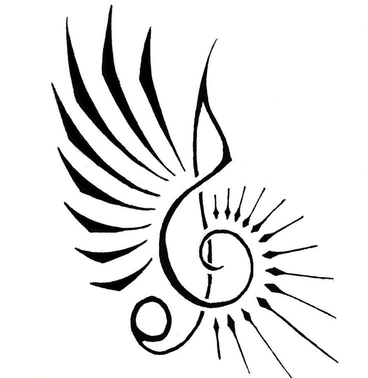 736x755 Cool Music Tattoo Designs To Draw Free Download Clip Art