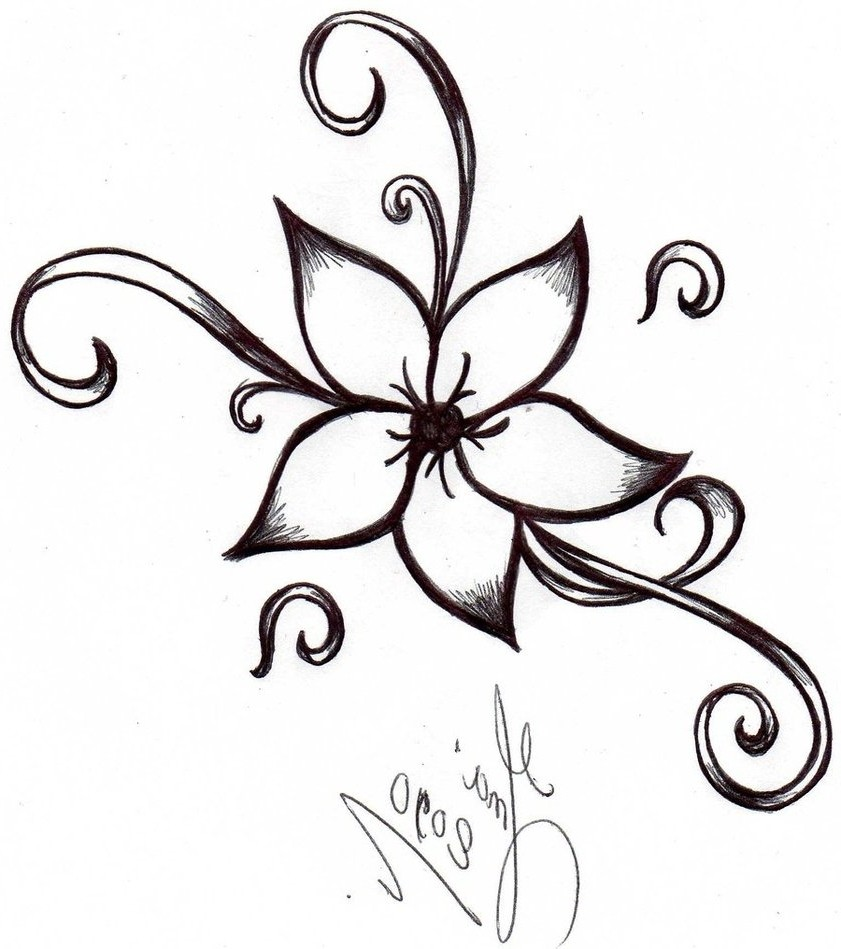 841x949 Pretty Designs Of Flowers To Draw Cool And Easy Simple Flower