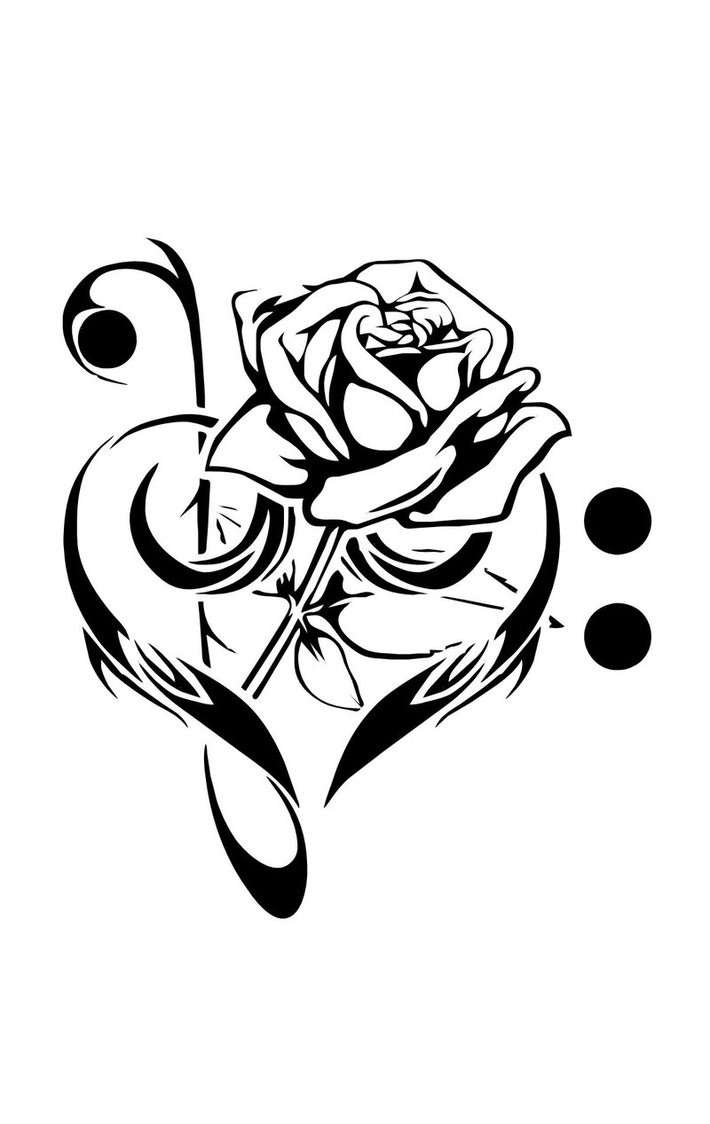 710x1124 Sketches Of Flower Tattoo Designs Best Of Free Cool Music Tattoo