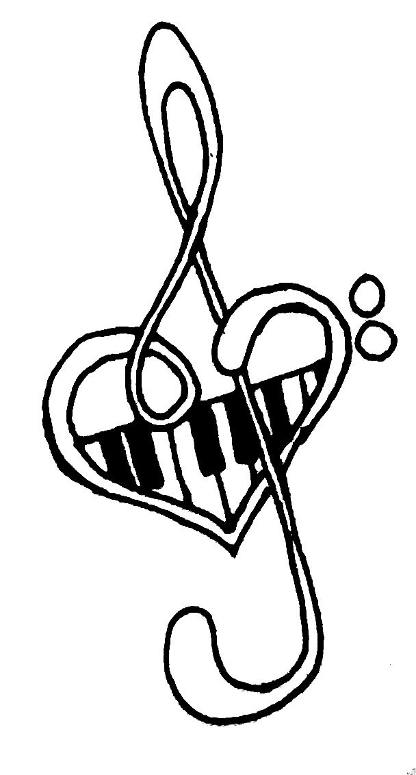 608x1132 Cool Music Tattoo Designs To Draw Free Download Clip Art