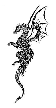 236x451 Best Cool Dragon Tattoo Drawings Images Dragon Tattoo Drawing