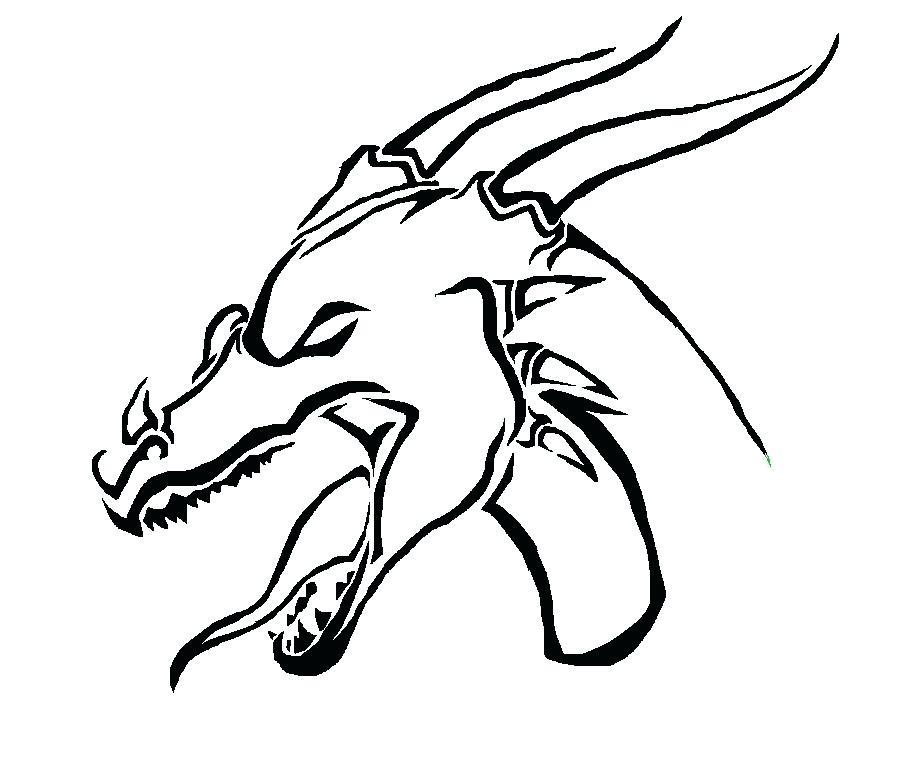 900x760 Drawing Of A Dragon Head Drawings Of Drawing Cartoon Dragon Head