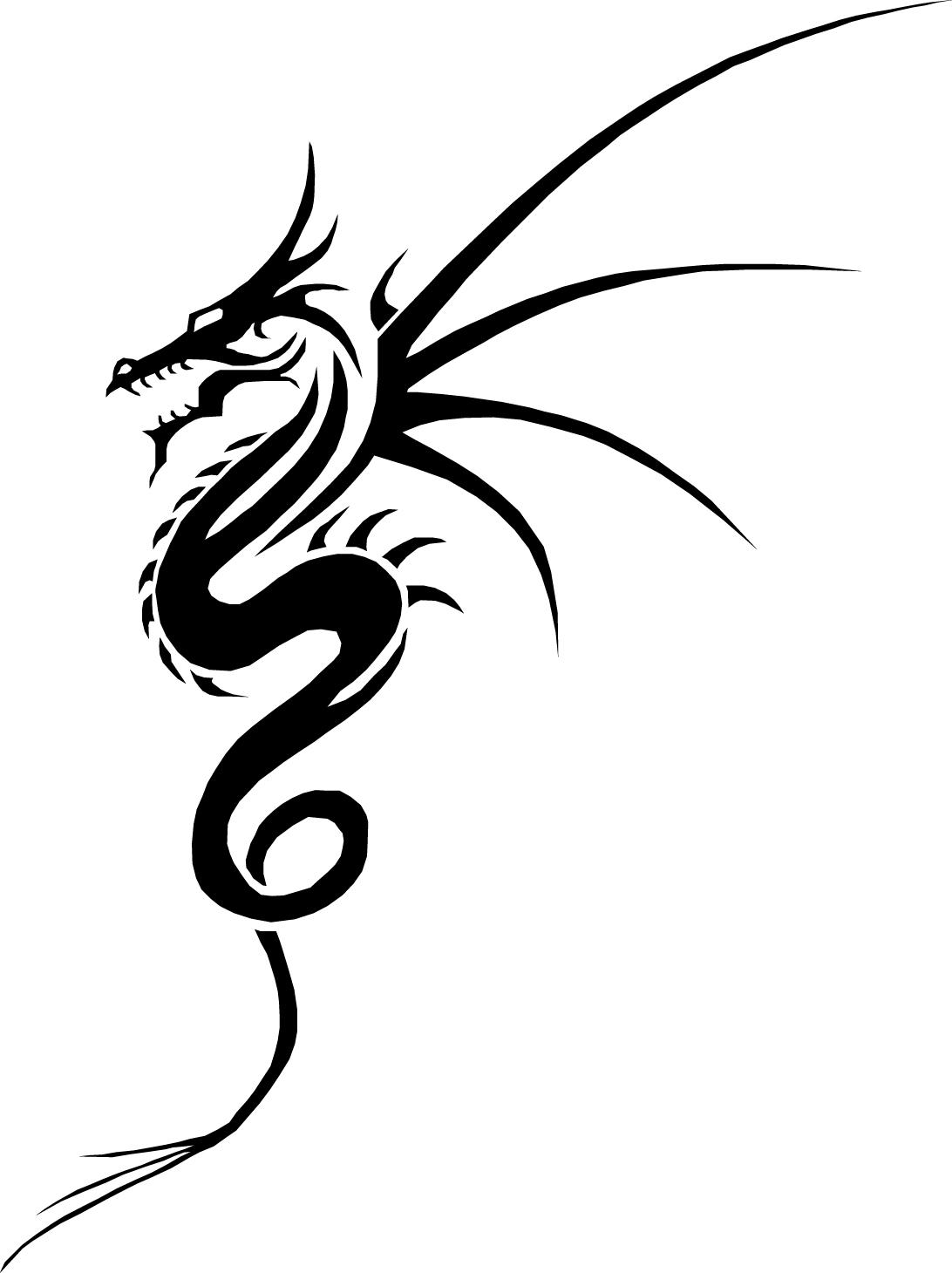 1092x1460 Drawing Of Dragon Tattoo