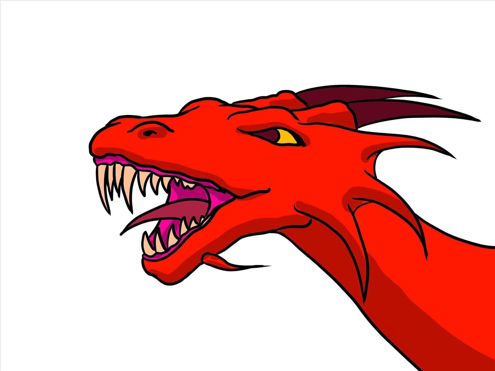 1900x1425 Drawings For Beginners To Draw A Cool Dragon Dragons Easy Step