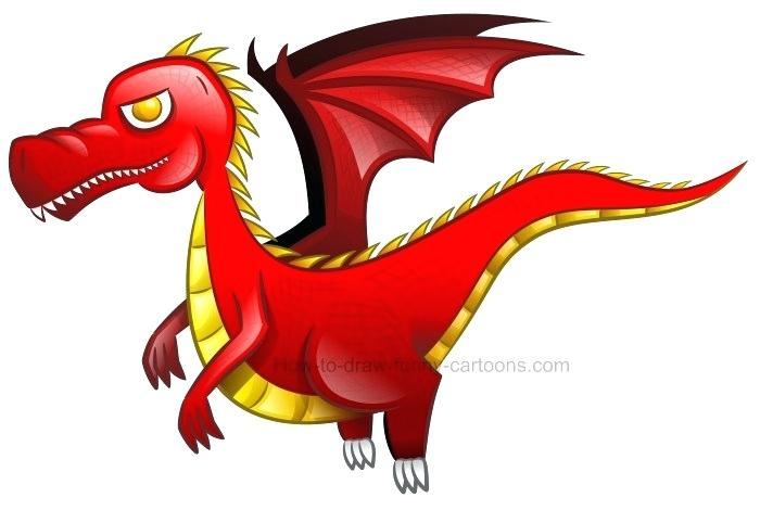 700x482 How To Draw A Cute Dragon How To Draw Cool Angry Mean Cartoon