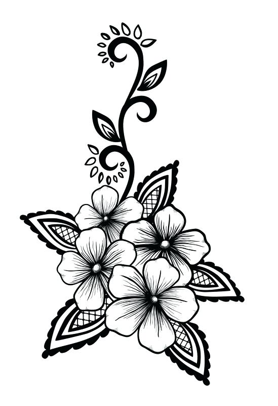 549x800 Cool Black And White Design Beautiful Floral Element Black