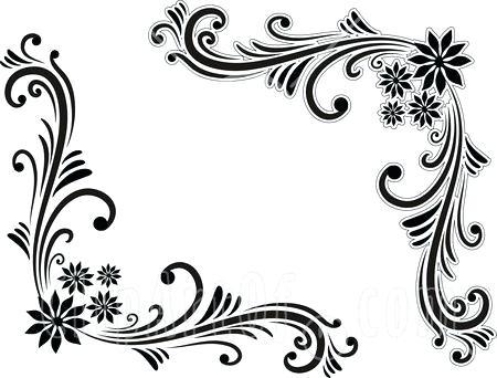 450x342 Designs Black And White Border Black And White Border Corner