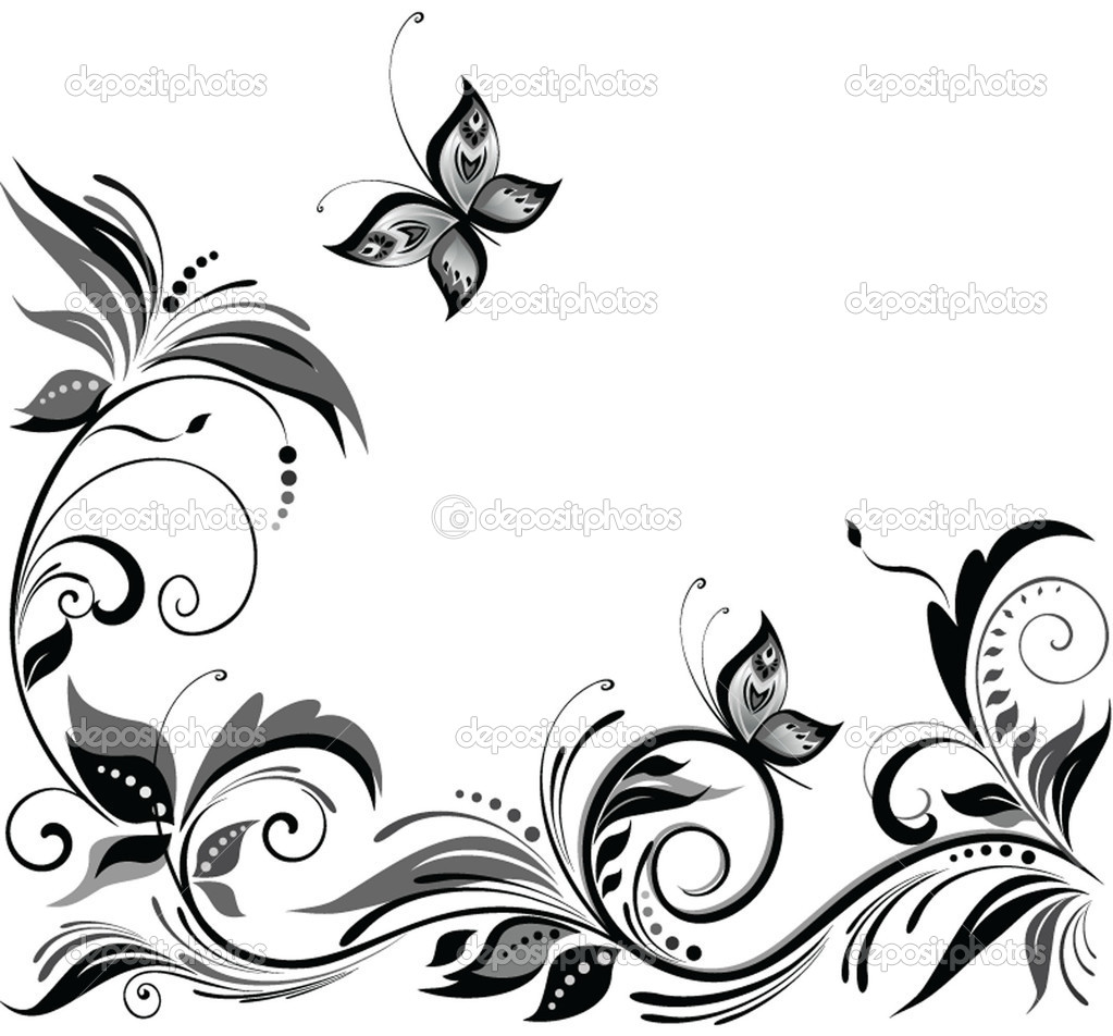 1023x952 Simple Flower Designs Black And White Gallery Images
