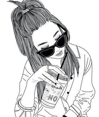 417x491 Fondos De Pantalla Tumblr Girl Drawing