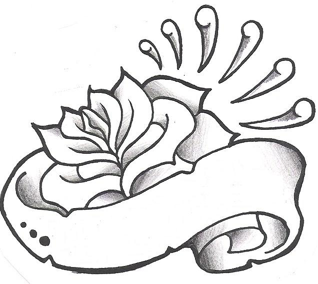 636x569 Rose Drawing Name For Free Download