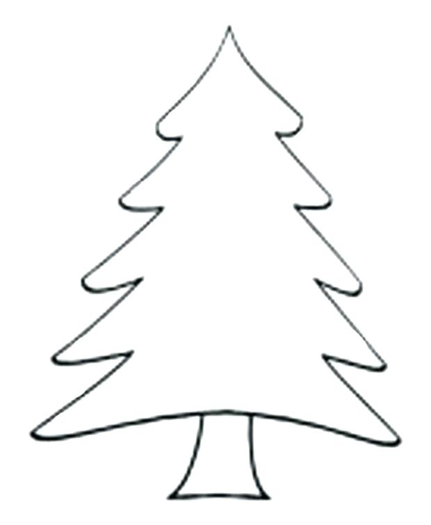 620x755 xmas tree outline drawing of a tree tree outline tree drawing