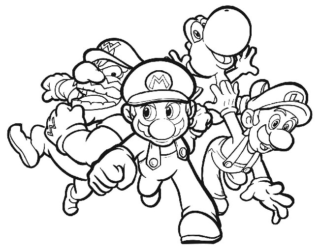 650x509 Super Mario Characters Coloring Pages Download Cool Hd
