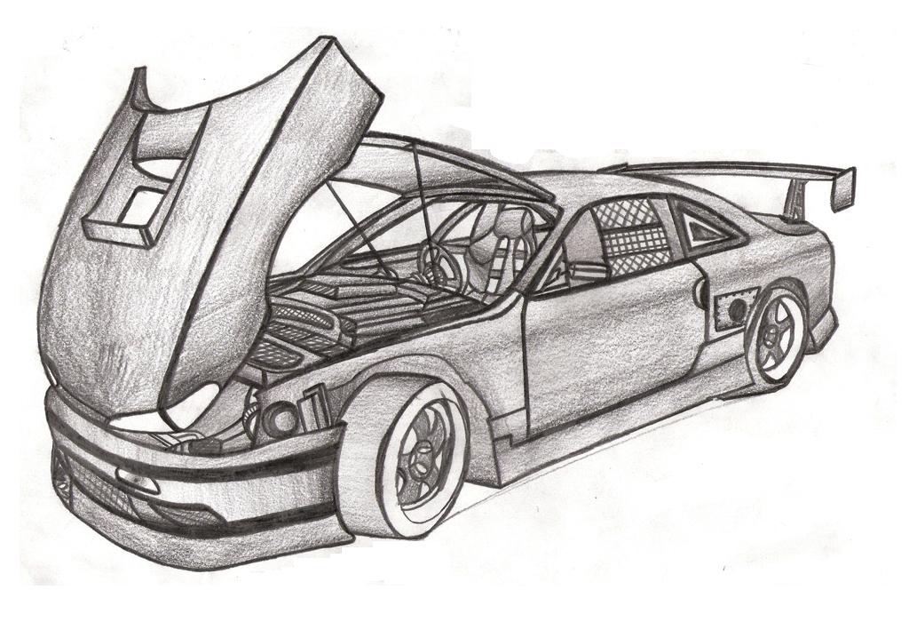 1024x700 Car Drawings In Pencil, High Quality Wallpapers, Full Hd Pics Ll