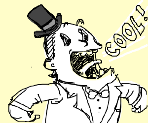 300x250 Cool Dude In A White Suit And Tophat