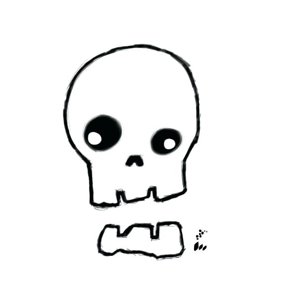600x600 skull drawings easy cool easy skull drawings cool skull to draw