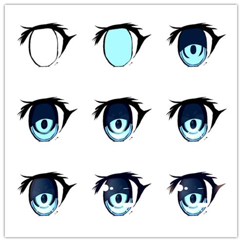 497x497 Digital Paint Eye Tutorial Art In Cool Eye Drawings, Art